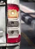 Old broken car taillight — Stock Photo