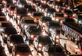 Crowded car in the night — Stock Photo