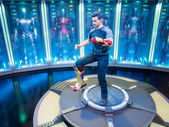 Iron Man 3 figurine display of Tony Stark — Stock Photo