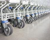 Shopping cart wheels — Stock Photo