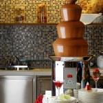 Chocolate fondue — Stock Photo #42495117