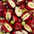 Red apples and green grapes — Stock Photo