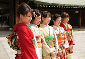 Women dressed in kimono — Stock Photo