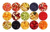 Circle of Fruits — Stock Photo