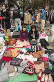 Flohmarkt im yoyogi park in harajuku, japan — Stockfoto