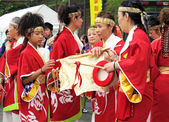 Annual festival in Shin-Yokohama, Japan — Stock Photo