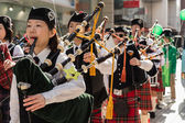Pipers in parade — Stock Photo