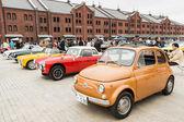 Row of vintage cars — Stock Photo