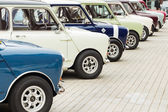 Row of Mini Cooper — Stock Photo