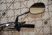 Motorcycle Handle Bar and Side view Rear Mirror — Stock Photo