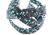 Black and Turquoise Beaded Jewelry — Stock Photo