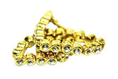 Gold Bracelet studded with Diamonds — Stock Photo