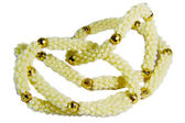 Vita pärlor halsband — Stockfoto