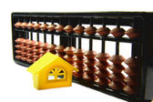 étudiant avec abacus à la maison — Photo