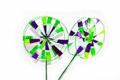 Green Blue Pinwheel — Stock Photo