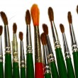 Royalty-Free Stock Photo: Mixed paint brushes