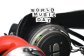 Closeup of world music day — Stock Photo
