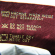 Постер, плакат: Washing Information for Jeans
