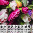 Happy mothers day with flowers — Stock fotografie