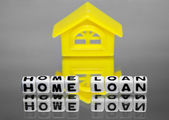 Home loan with design of house — Stock Photo