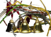 Four yellow real bells — Stock Photo