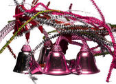 Four pink themed bells — Stock Photo