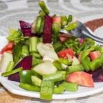 Fork in Salad — Stock Photo