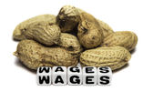 Peanuts and wages — Stockfoto