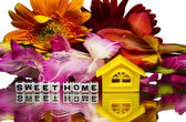 Sweet home with flowers — Stock Photo