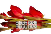 Miss you message — Stock Photo