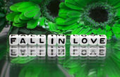 Fall in love green theme — Stockfoto