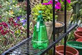 Spray bottle in garden — ストック写真