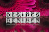 Desires  text message — Stock Photo