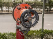 Fire hose wheel — Stock Photo