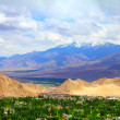 View of Leh valley, Ladakh range, Jammu & Kashmir, Northern India — Stock Photo