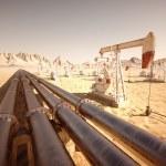 Oil Pump Jack. — Stock Photo