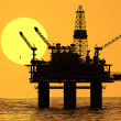 Stock Photo: Oil platform on sea.