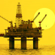 Oil platform on sea. — Stock Photo