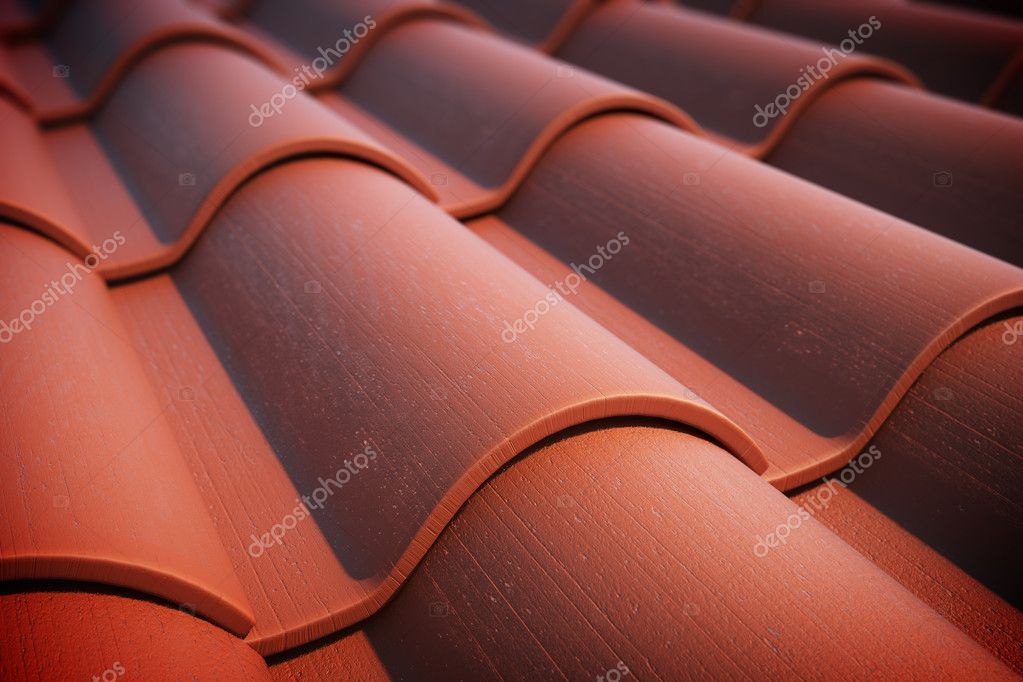 Close up of red roof tiles. — Stock Photo #18850873