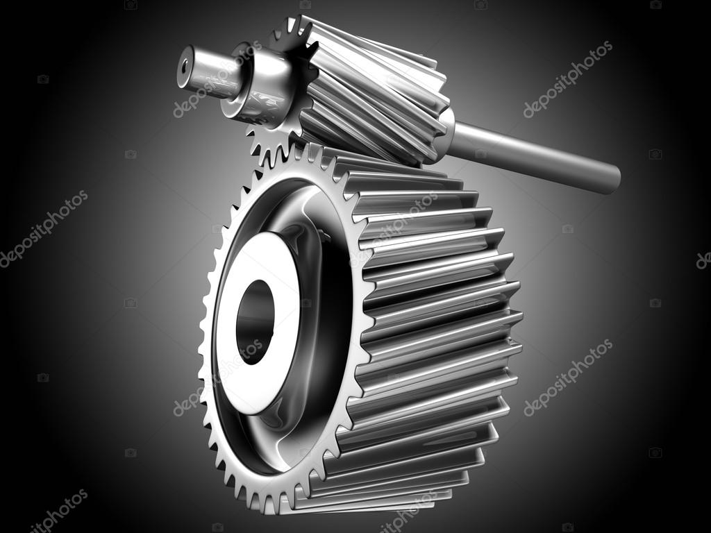 3D image of silver cogs. — Stock Photo #18922209