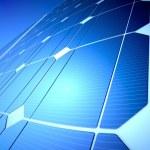 Sunny solar blue shiny panel, closeup — Stock Photo #19097933