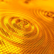 Abstract background of ripples in gold - Stock Photo