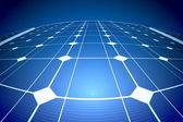 Sunny solar blue shiny panel, closeup — Stock Photo