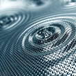 Abstract background of ripples in platinum - Stock Photo