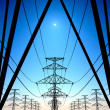 Power lines on blue sky. — Stock Photo #21654687