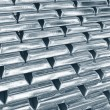 Stock Photo: Stacked platinum bars