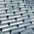 Stacked platinum bars — Stock Photo