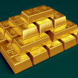 Stacked gold bars — Stock Photo