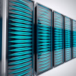 Rack of servers. - Stock Photo