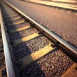 Railroad straight track. — Stock Photo
